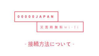 00000JAPAN 接続方法について